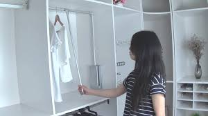 pull down closet rod pull down wardrobe lift pull out rack closet