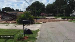 sinkhole tears apart 2 homes 10 surrounding homes evacuated