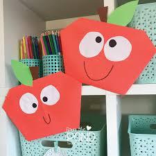 easy apple paper craft frog spot
