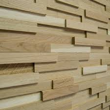 Wood Wall Paneling by Wallure Striped Oak Narrow Sleek Natural Wooden Wall Panel