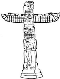 totem pole coloring pages throughout totem pole coloring pages