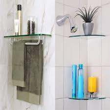 Bathroom Shelves Home Depot Kes Glass Shelf Bathroom Towel Rack Single Bar With