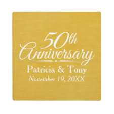 wedding plaques personalized 50th wedding anniversary photo plaques zazzle