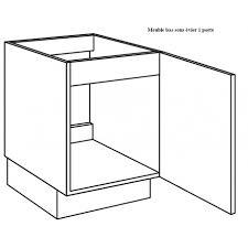 meuble d evier cuisine meuble sous évier de cuisine largeur 60cm