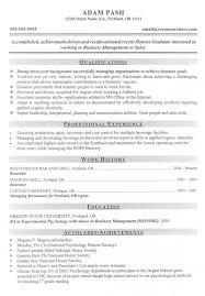 ba resume format college resume samples template business