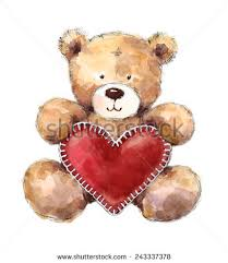 s day teddy valentines day teddy heart stock illustration 243337378