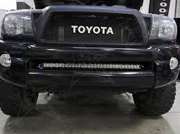 tacoma grill light bar rigid 40156 led light bumper mount sr series kit toyota tacoma