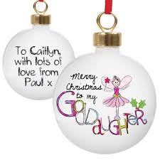 goddaughter christmas ornaments goddaughter personalised christmas tree bauble