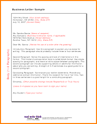 friendly business letter format format