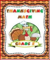thanksgiving math activities for 5th grade project edu