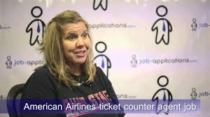 American Airlines Help Desk American Airlines Interview Ticket Agent Youtube