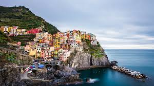 image italy manarola crag coast cities houses