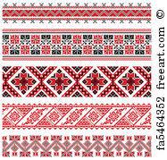 ukrainian ornaments free print of ukrainian embroidery ornament vector