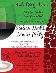 italian dinner party invitation template don huppe pinterest