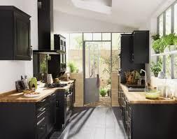 cuisine noir laqué plan de travail bois cuisine grise plan de travail bois best of idée cuisine noir laque