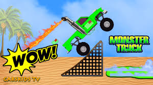 bigfoot presents meteor and the mighty monster trucks pickup monster truck stunt cars and trucks for kids monster