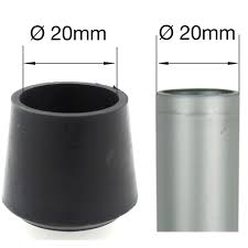 Furniture Rubber Floor Protectors by 20mm Black Rubber Ferrules Ends Feet For Table U0026 Chair Legs
