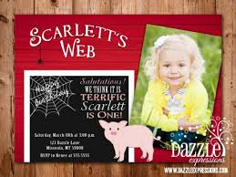 printable charlottes web inspired birthday invitation farm