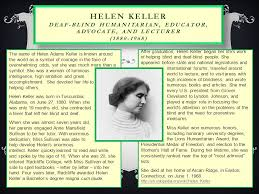 How Old Was Helen Keller When She Became Blind Deaf Without Limits Deaf And Hard Of Hearing Pioneers Ppt Download