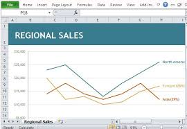Sales Chart Excel Template Regional Sales Chart Maker Template For Excel
