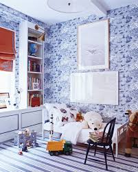 bedroom best peel and steak wallpaper with tall bookcase and red