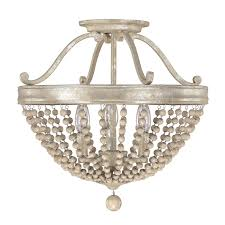 Ceiling Light Semi Flush Capital Lighting Fixture Company Adele Silver Quartz Three Light