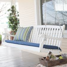 furniture nice curved back wood porch swing constructed of