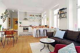 open floor plans one cosy one bedroom apartment with an open floor plan freshome com