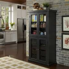 furniture rustic tall distressed kitchen pantry storage cabinet