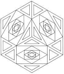 geometrical design coloring book at children books online