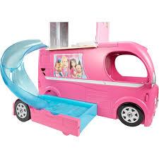 Kitchen Set Toys For Girls Barbie Pop Up Camper Playset Pool Swimming Glam Van Girls Toys