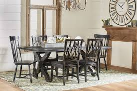 primitive dining room furniture magnolia home primitive sawbuck dining table levin furniture