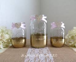 jar baby shower centerpieces gold and glitter jars baby shower centerpieces glitter