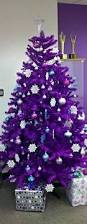 Christmas Tree With Blue Decorations - white christmas tree with purple and blue decorations designcorner