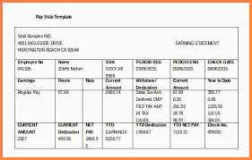 Check Stub Template For Excel 8 Paycheck Stub Template For Excel Sles Of Paystubs