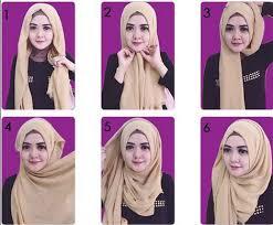 tutorial memakai jilbab paris yang simple cara memakai jilbab paris segi empat simple untuk sehari hari