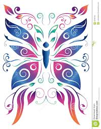 abstract floral butterfly vector design stock vector