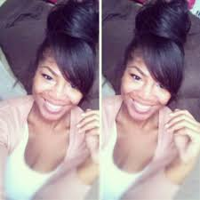 natural hair bun styles with bang bunning it hairrrr pinterest hair style bun styles