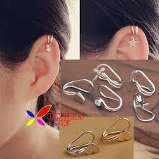 ear cuffs online shopping buy 1pc silver rhinestone wrap ear clip cuff earring unisex
