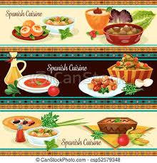 cuisine traditionnelle espagnole cuisine ensemble nourriture traditionnel espagnol vecteur