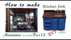 How To Make Doll Kitchen How To Make A Doll Kitchen Sink Miniature Diy Kitchen Sink