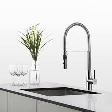 Spring Kitchen Faucet by Kraus Kpf2730ch Single Lever Commercial Style Double Coil Spring