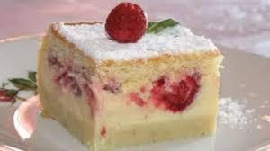 cuisiner des gateaux gâteau magique à la vanille framboises recette par la neuvième planète