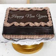 new year chocolate 1kg square shape new year chocolate cake order cakes online