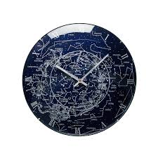 glowing milky way wall clock star clock uncommongoods