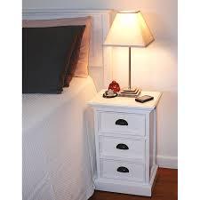 halifax white mahogany 3 drawer nightstand dcg stores