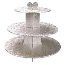 3 tier cupcake stand silver foil covered 3 tier cupcake stand cake cupcake stands