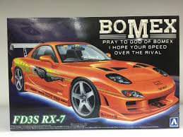 mazda rx7 fast and furious aoshima 005866 fast and furious bomex mazda rx7 fd3s sleek lights