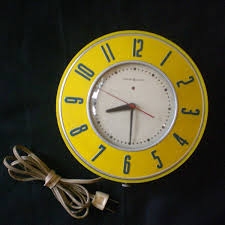 mid century kitchen wall clock