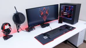 good gaming desk ultimate desk tour eds setup youtube idolza